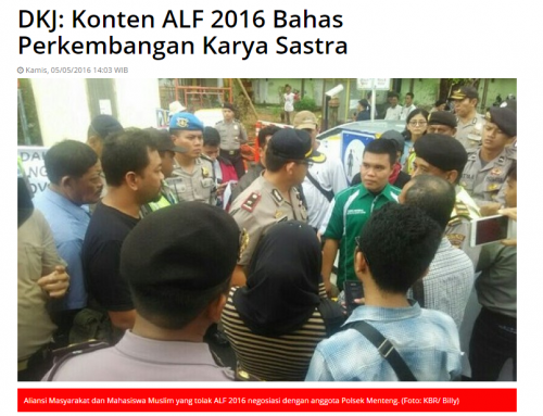 DKJ: Konten ALF 2016 Bahas Perkembangan Karya Sastra